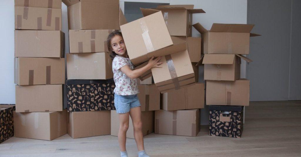 little girl moving
